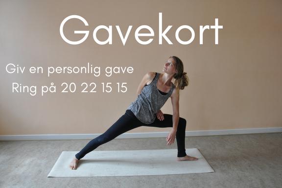 Tri yoga. Få lavet et personligt gavekort til TriYoga v.Signe Holm